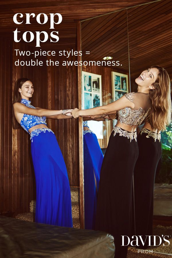 Shop David's Prom for crop top prom dresses and more top trends for Prom 2016. Styles start at $99.95!