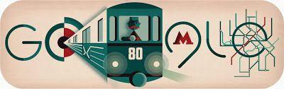 Doodleando, Los Logos de Google: El metro de Moscú Cumple 80 años.