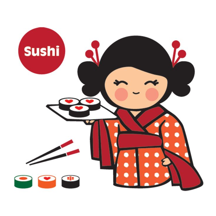 Oriental Food Print T-Shirt