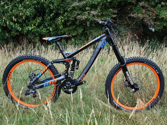 The dh 7000 is ghosts entry-level downhill bike, at £2,299.99. its also available as a frameset for £1,499.99: