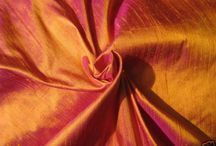 Burnt Orange silk fabric-Mulberry Silk Taffeta by YardFabricShop