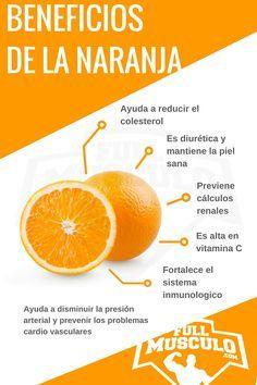 Infografia de los beneficios y las propiedades de la naranja. #Beneficios…