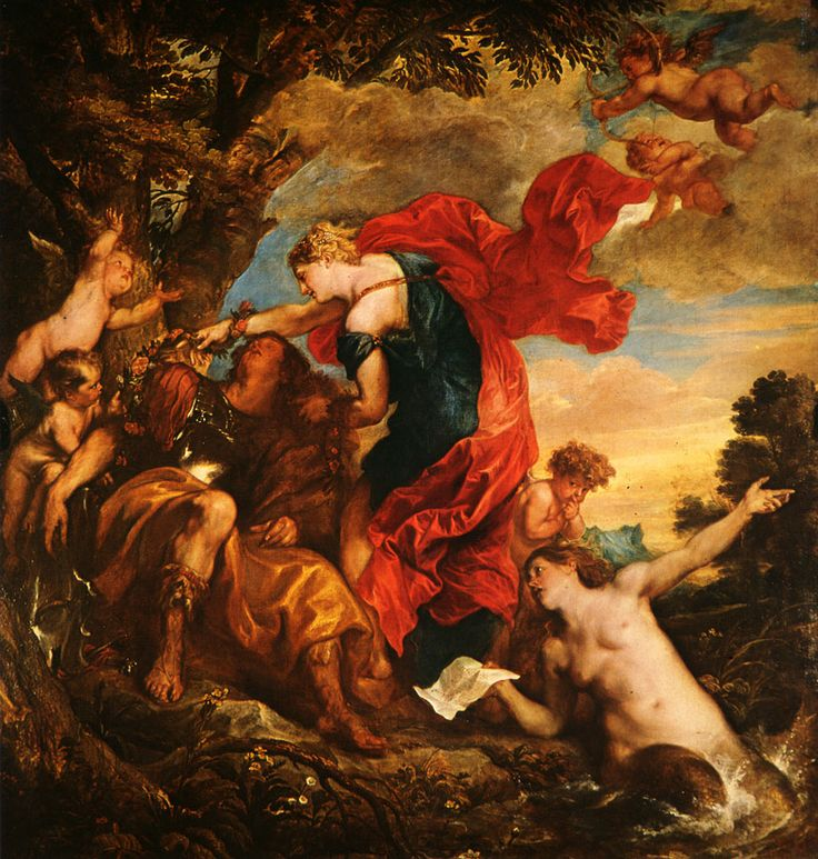 Rinaldo and Armida - Anthony van Dyck
