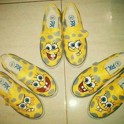 Painting shoes Spongebob Squarepants Only 125k-135k