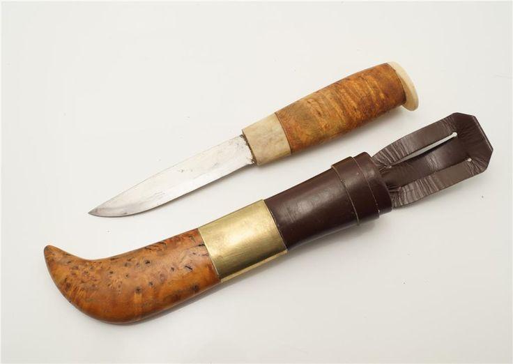 Rejäl kniv med blankpolerat kålstålsblad på Tradera.com - Jaktknivar och