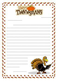 Thanksgiving Letter