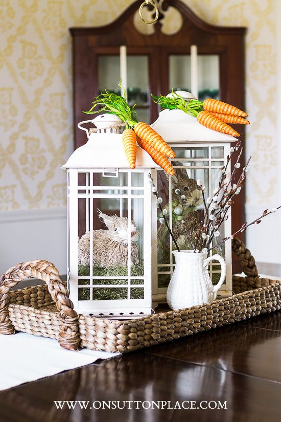 Decorating with Lanterns for Spring | On Sutton Place