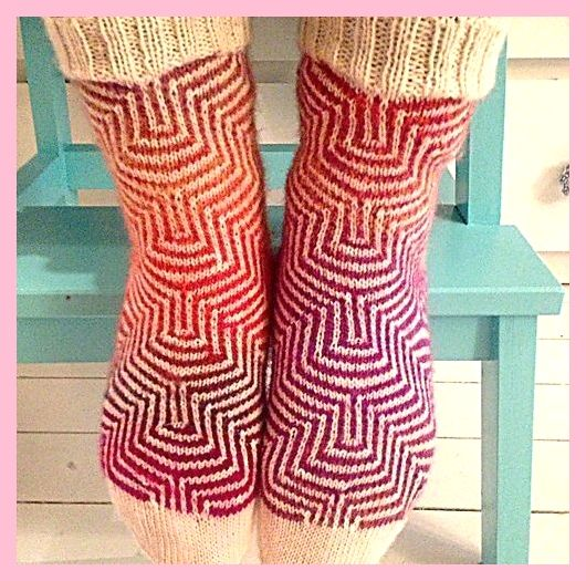 Neuen: Gratis – Mosaikstricktechnik für diese Socken Ravelry: Project Gallery for P, #br …