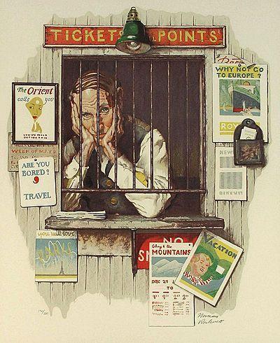 Norman Rockwell, Ticketseller