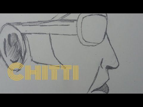 How To Draw Chitti Robot 2 0 Youtube Arjun S Art Yt