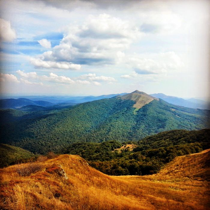 Wild mountains in Poland - Bieszczady #landscape #mountain #nature #poland