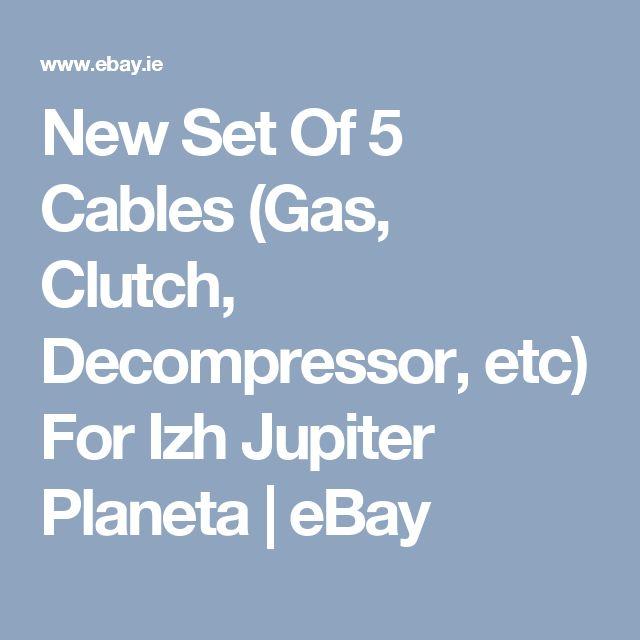 New Set Of 5 Cables (Gas, Clutch, Decompressor, etc) For Izh Jupiter Planeta | eBay