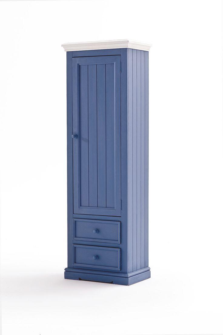 Garderobenschrank LaMer II Brilliantblau Passend zum Möbelprogramm LaMer 1 x Garderobenschrank rechts mit 1 Tür 2 Schubkästen und 1 Kleiderstange Maße:...