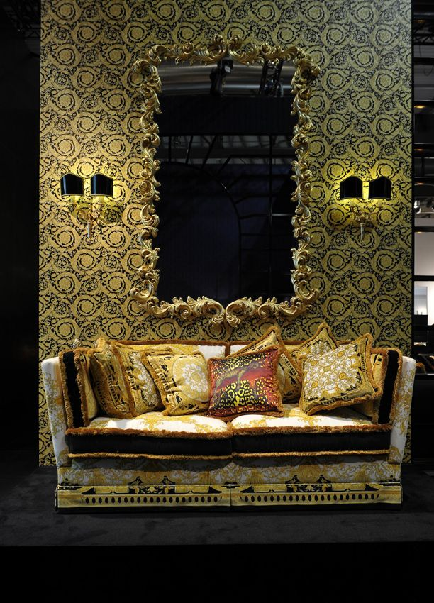 versace home. Love the cushions and the mirror.