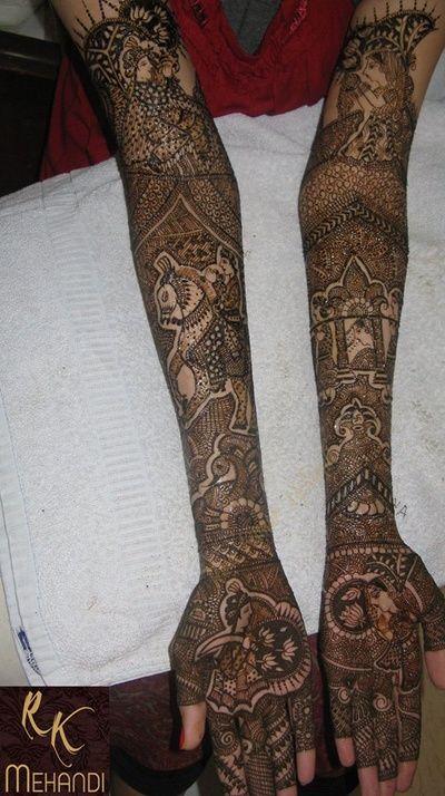 Intricate bridal mehndi or henna design. Ram kumar Mehendi Art Info & Review | Wedding Mehendi Artist in Delhi NCR | Wedmegood