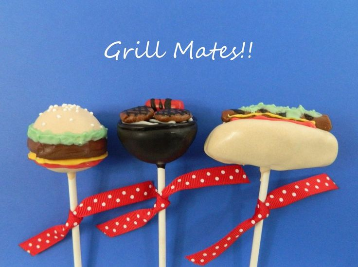 12 Grill Mates Hamburger Hotdog Fathers Day Cake Pops Sweets Table Candy Buffet Baby Shower Birthday Party Favors Wedding Easter Spring