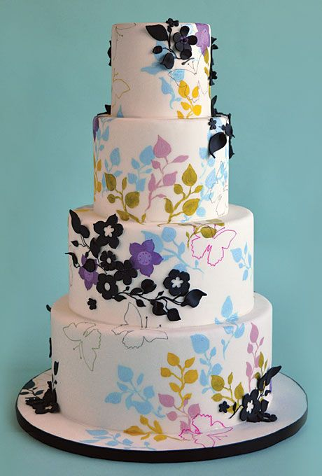 Brides: Outstanding Wedding Cake Designs : trull confectionary arts Pennsylvania 12.00 slice 125 servings