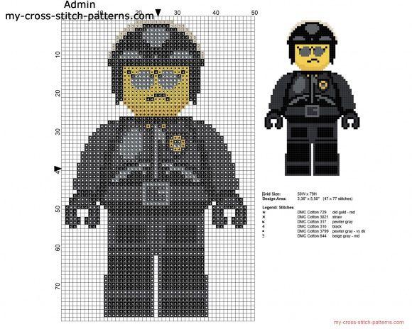 Bad Cop Nice Cop La Grande Aventure Lego grille point de croix