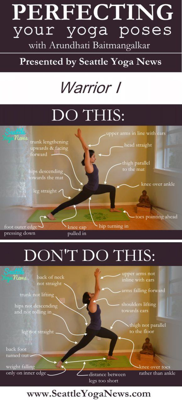 Are you looking to perfect your Warrior 1 yoga pose (Virabhadrasana 1)? Follow this visual guide to make sure that you are doing this yoga pose just right.