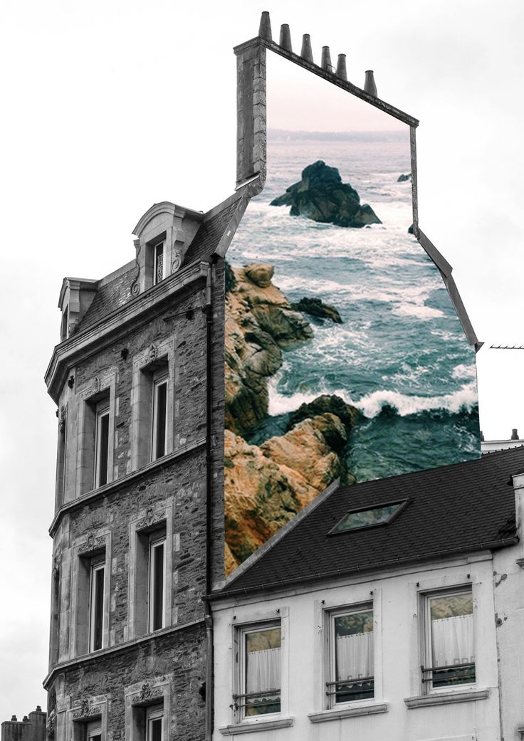 """House"" by Merve Ozaslan #collage #art #color #vintage #nature #surreal"