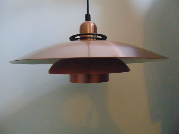 1970u0027s Vintage Danish Copper Coloured Three Teir Pendant Light THEA By JEKA. Retro Scandinavian & 21 best Vintage Danish Lighting images on Pinterest | Chandeliers ... azcodes.com