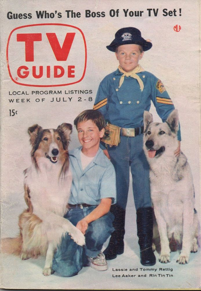 1955 Tv Guide Lassie And Tommy Rettig Lee Aaker And