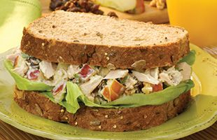 Tuna Apple Salad Sandwich - What's Cooking? USDA Mixing Bowl #MyPlate