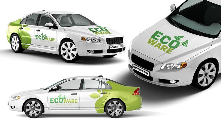 Návrh polepu auto pro EcoWare.cz