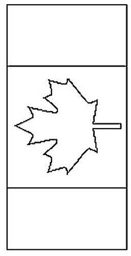 Canadian Flag Coloring Book Page