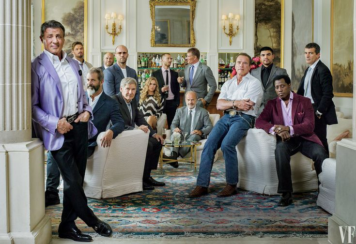 Photography by Jonathan Becker.  The Cast of The Expendables 3 | Vanity Fair