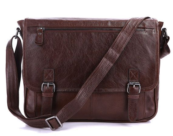 Handcrafted Leather Briefcase / Messenger / by MooshiLeatherDesign