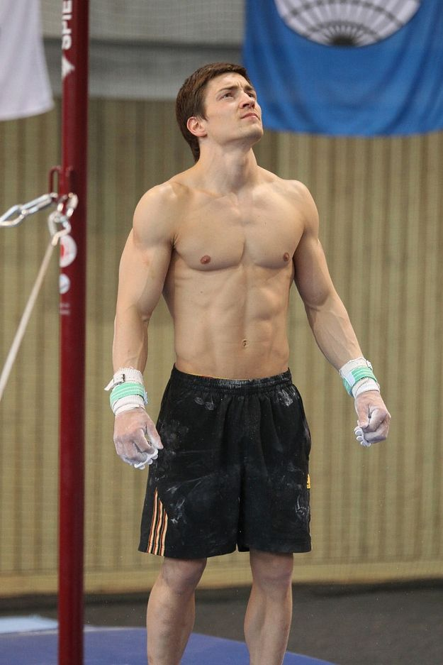 Philipp David Boy of the German Men's Gymnastics Olympic Team 2012. Pinning because of his body and he's German.