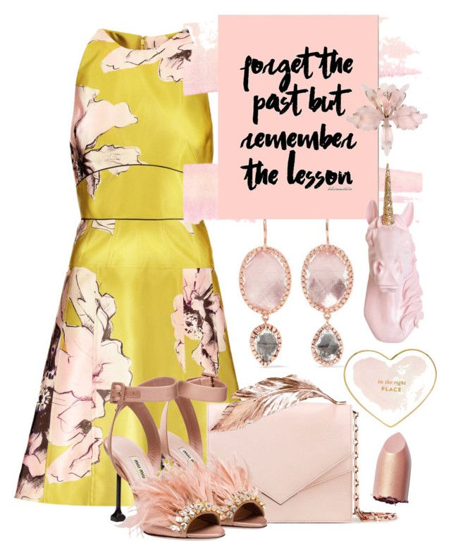 """Untitled #1588"" by sunnydays4everkh ❤ liked on Polyvore featuring Lela Rose, Larkspur & Hawk, RALPH & RUSSO, Miu Miu, Stupell and Kate Spade"