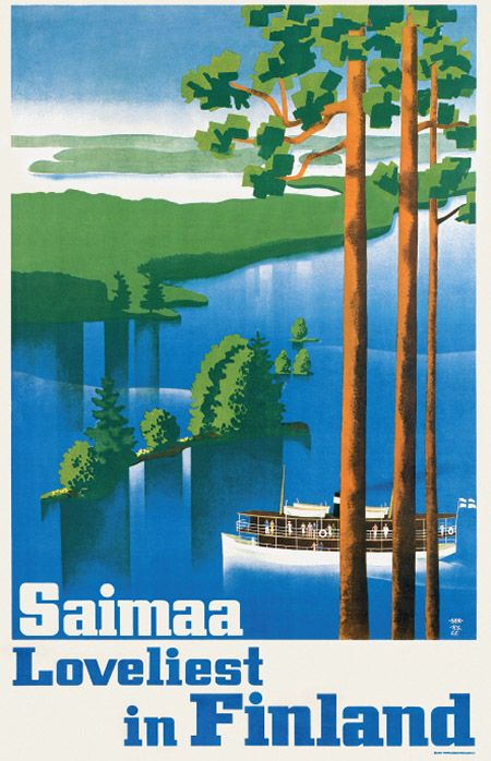 Come to Finland - vintage travel poster from Finland. Love the style!