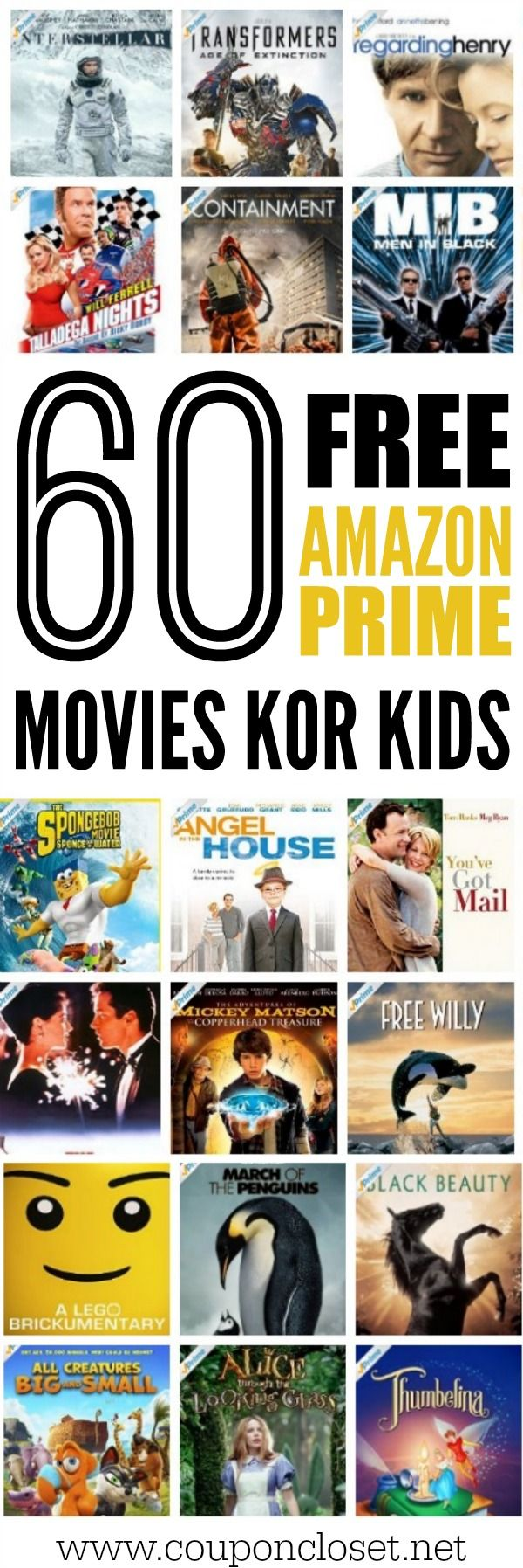 60 of the Best Free Amazon Prime Movies for Kids