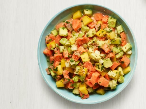Get Mango Salmon Ceviche Recipe from Food Network