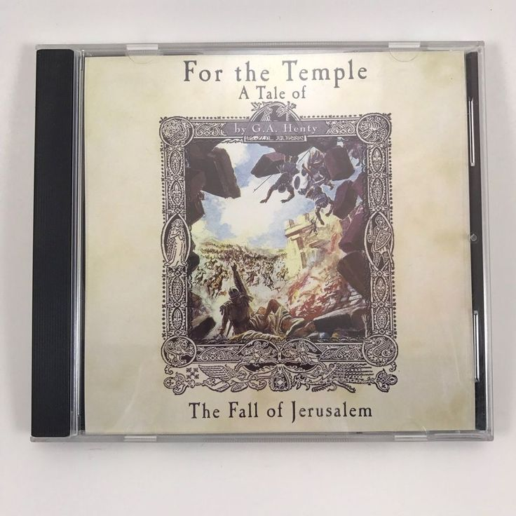 For the Temple G A Henty Audiobook MP3 CD Fall of Jerusalem read by Jim Hodges