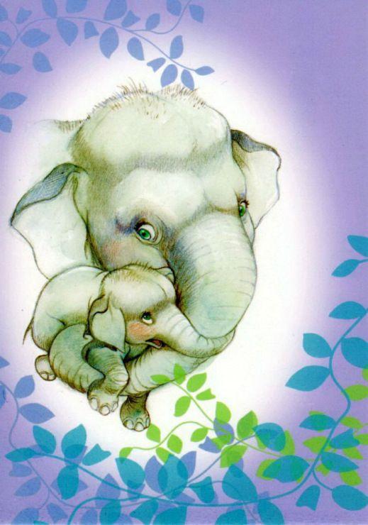Открытки с слонами, оформить