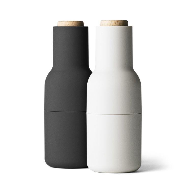Menu / Bottle Grinder, small, carbon/ash set: Salt And Pepper Mills: Kitchen & Dining, wood lid : 64.95$