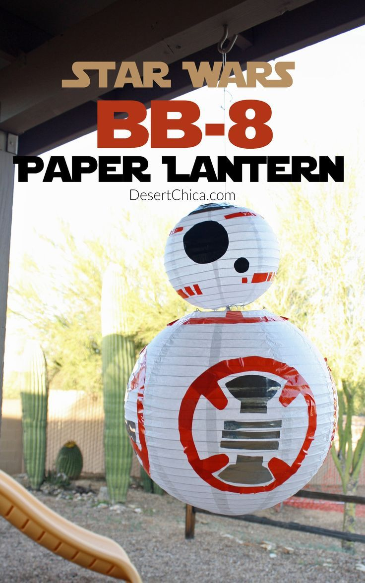 How to make a DIY Star Wars BB-8 Paper Lantern! This is a fun party decoration or everyday room decoration for a Star Wars lover.