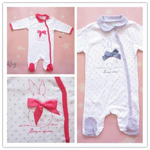 Ползунки, комбинезоны из Китая :: Внешней торговли оригинальный тонкий хлопок лук ребенка плюс размер длинный рукав onesies младенца Ромпер костюм новорожденных.