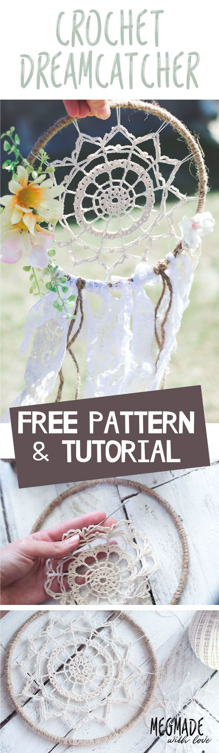 ***You can find the PDF version of this pattern in my shop by clicking here. Great for easy printing!*** I'm oh so pumped to bring you this dreamy dreamcatcher pattern I've whipped up here recently! I've been inspired by the doily dreamcatchers for quite some time, and thought to myself- I should cr