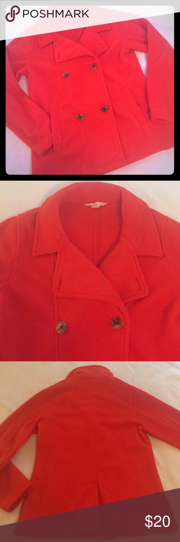 Lands End Kids fleece pea coat Lands End Kids cherry red fleece pea coat. Lands' End Jackets & Coats Pea Coats
