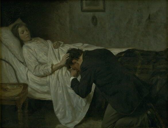"""shatovthings:""""En tilgivelse"""" (1892)... http://sisterwolf.tumblr.com/post/162964735601/shatovthings-en-tilgivelse-1892-by-valdemar by http://apple.co/2dnTlwE"""