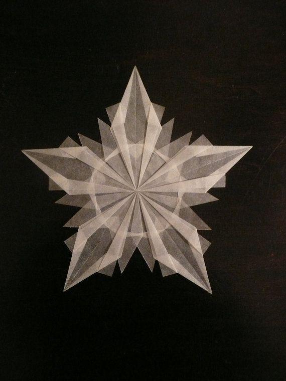 Snowflake Window Transparency White Winter Window by LaLutine