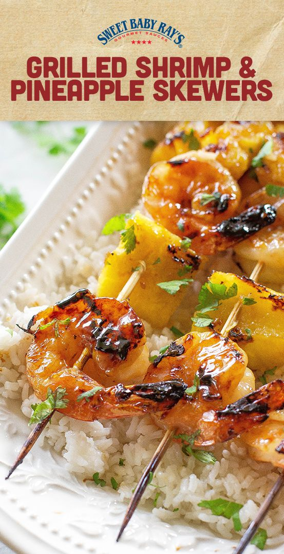 This Grilled Shrimp and Pineapple Skewers over Coconut Rice recipe is an easy and delicious summer combo, not to mention a crowd-pleaser! From weeknights to the weekend, everyone will love these sweet and savory kebabs.