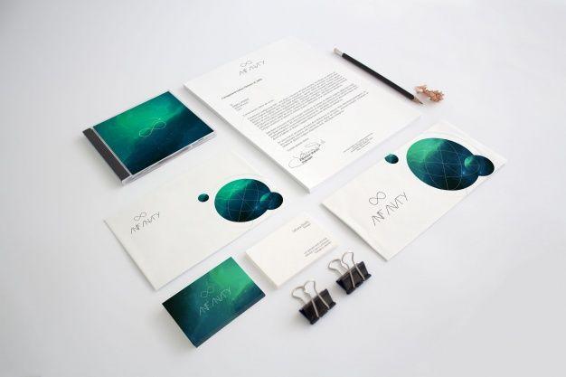 Diseño de mock up de papelería corporativa Psd Premium