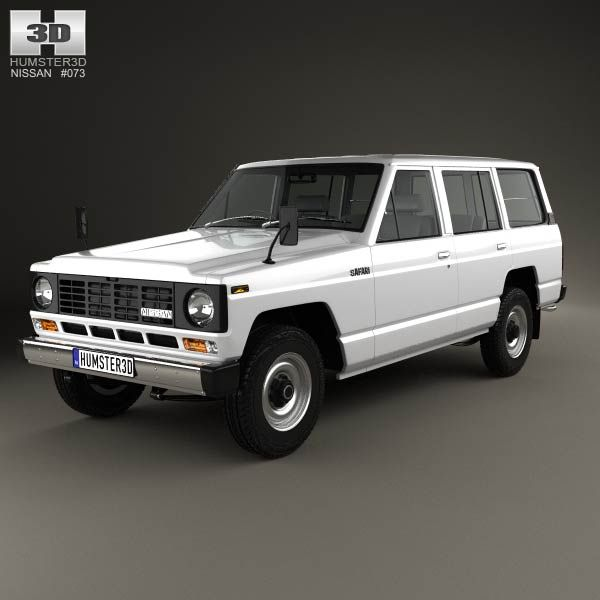 Nissan Patrol (160) 1980 3d model from humster3d.com. Price: $75