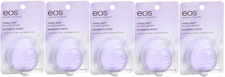 PACK OF 5! Brand NEW EOS Visibly Soft Lip Balm Sphere, 0.25 oz #EOS