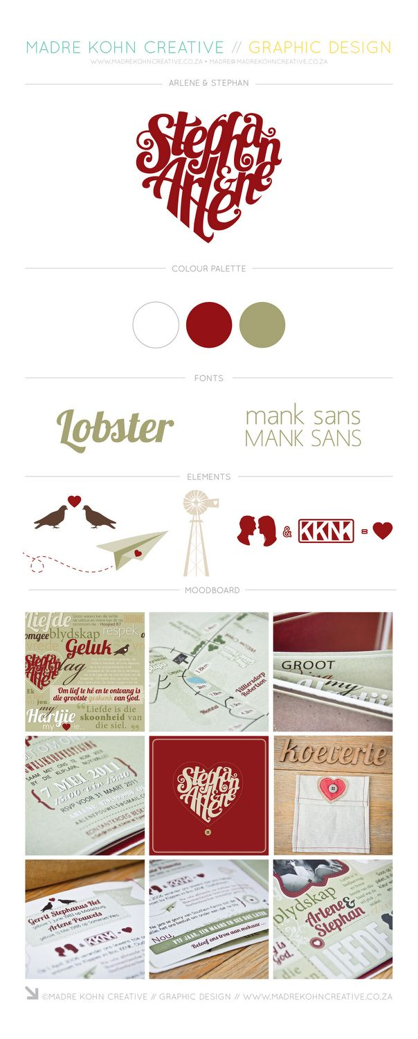 Farm inspired green and red quirky wedding design by Madre Kohn Creative. http://www.madrekohncreative.co.za/